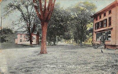 FORESTVILLE, BRISTOL, CT ~ MAIN ST. ~ A. SCHMELZER CO., PUB. ~ used