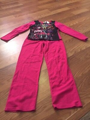 Nice girls size 14/16 Monster High pink fleece pajamas sleepwear
