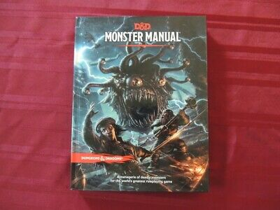 Dungeons & Dragons Fifth Edition DND 5E Monster Manual Core Rulebook
