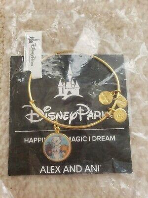 Disney's Alex and Ani - The Aristocats Bracelet-Gold. NEW