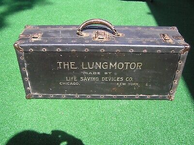 THE LUNG MOTOR Vintage Medical Device Case Obscure Goth Oddball Rocker 1914