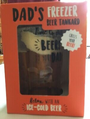 Boxed Plastic Dads Freezer Tankard with Dad detail