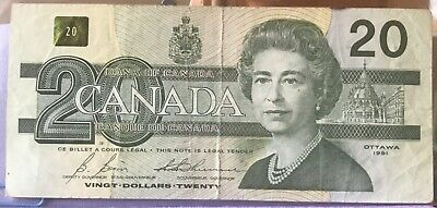 1991 Bank of Canada $20 AIX Replacement note in nice condition
