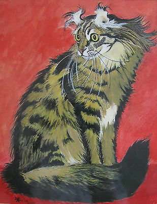 "C134  Original Acrylic Painting By Ljh    ""Allison"" American Curl"