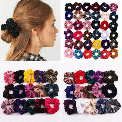 Vintage Hair Rubber Bands Elastic Hair Ties  Velvet Scrunchie  Hair Scrunchie