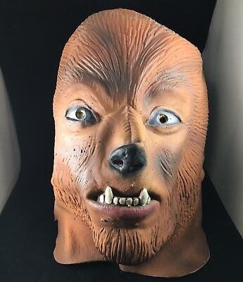 1998 The Wolfman & Dracula Latex Monster Masks Lot 1998 U.S.C Made In Mexico