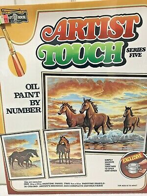 Vintage Craft House Oil Paint by Number 5104 Majestic Spirits Horses Series Five