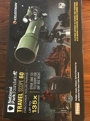 Celestron National Park Foundation TravelScope60/Backpack 22005 Complete in Box