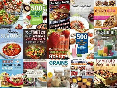 Collection of food recipe books PDF E - Book + Resell rights + Free shipping