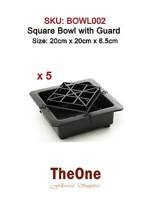 5 x Square Flower Bowl with Guard