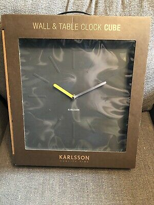 Karlsson Cube Wall And Table Clock