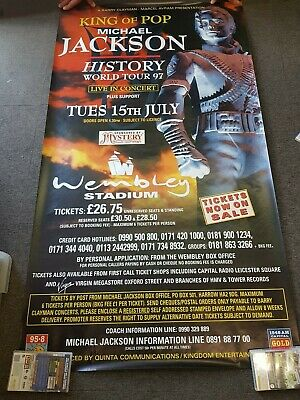 "40x60"" HUGE  Poster Michael Jackson History World Tour 1997 Wembley July 15th"