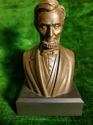 Bronze Color Polyresin DesignMasters Abraham Lincoln Bust
