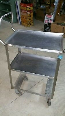 Lakeside Stainless Steel Utility Cart,Material Handler,Roll,Industrial SteamPunk