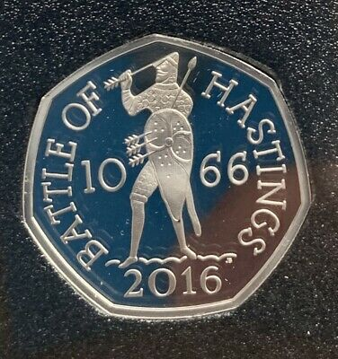 2019 Battle Of Hastings BASE PROOF from 50 Years Of The 50p British Military Set
