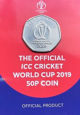 The Official ICC Cricket World Cup 2019 50p Brilliant Uncirculated Coin BU BUNC