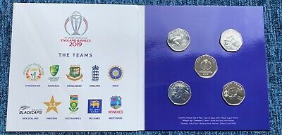 The Official ICC Cricket World Cup 2019 50p Set Only 9995 available BU BUNC