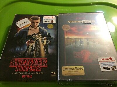 Stranger Things Seasons 1 and 2 on Blu Ray and DVD in Target Exclusive Packaging