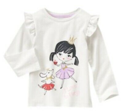 NWT GYMBOREE GIRLS SIZE 12-18 MONTHS MIX N mATCH I LOVE TO PLAY PUPPY BALLET TOP