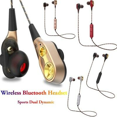 HIFI Heavy Bass Wireless Bluetooth Headset Sports Dual Dynamic Driver Earbuds