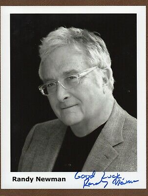 A Mature RANDY NEWMAN Songwriter MUSICIAN SIGNED PHOTO