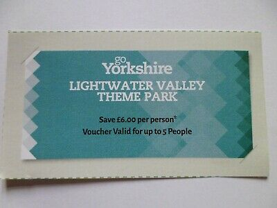 * 'LIGHTWATER VALLEY' Discount Voucher Save £6/person Valid for up to 5 People *