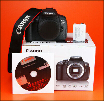 Canon EOS 700D Digital SLR Camera  Sold With Battery, Strap & Box + 3,070 Shots