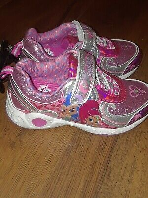 Shimmer And Shine Light Up Tennis Shoes Sneakers Girl Size 11 New With Tags