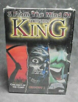 3 From the Mind of Stephen King DVDs (Maximum Overdrive, Creepshow 2, COTC)