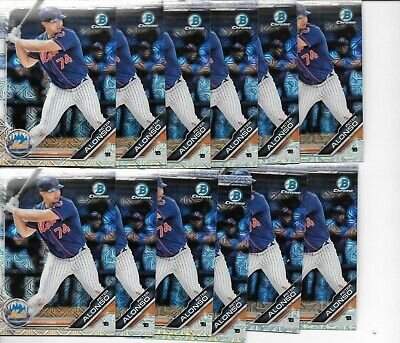 2019 Bowman Chrome Mega Refractor Peter Pete Alonso RC Lot x12 New York Mets