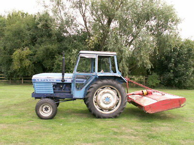 tractor 70hp and votex topper leyland 270 diesel pas. 9ft offset v5c delivery