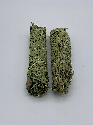 2x Cedar Sage Smudge Sticks / Wands - House Cleansing Negativity Removal