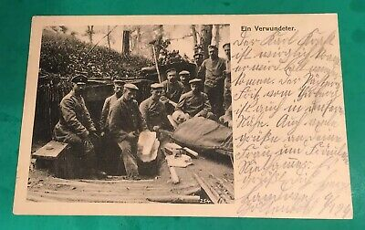 Feldpost WWI Postcard, Wounded Soldier, Landwehr Division