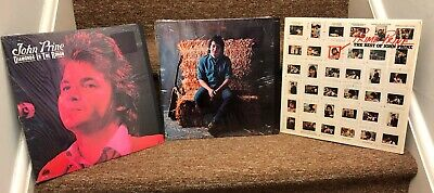 Lot of 3 John Prine LPs Diamonds In The Rough, Self Titled, Best Of