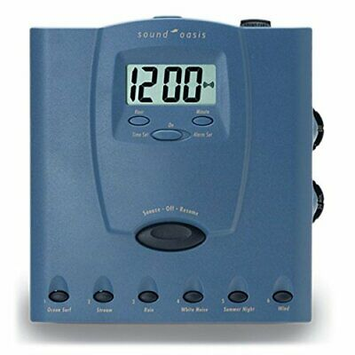 Sound Oasis S-560-03 Sleep Therapy System with Jumbo Alarm Clock, Blue