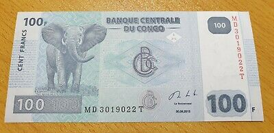 CONGO DEMOCRATIC REPUBLIC 100 Francs 2013 P98b UNC Banknote