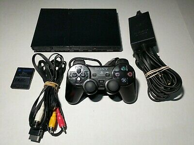 Sony PlayStation 2 PS2 Slim Console, Sony Controller VG+ Soft-Modded! Clean!