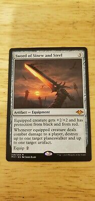 1x SWORD OF SINEW AND STEEL MTG NM Modern Horizons Magic the Gathering