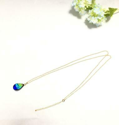 Phosphorescent Kerama Okinawa Firefly glass Premium Long Necklace from Japan