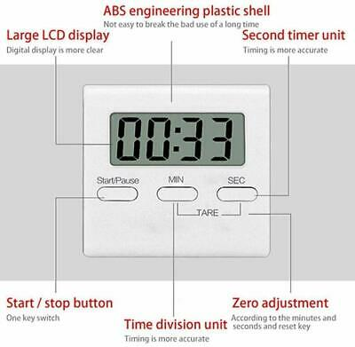 Kitchen Digital Timer Countdown LCD Display Loud Alarm Magnetic / Fordable Stand