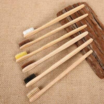 10X Friendly Eco Gentle Medium Natural Bamboo Wooden Soft-bristle Toothbrush New