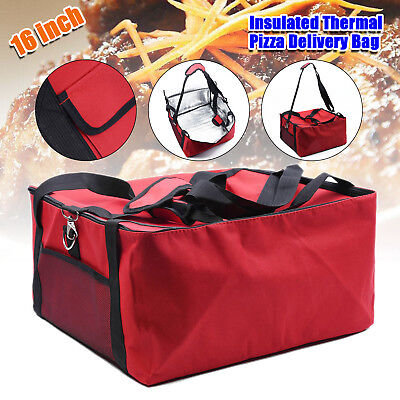 Newly 16'' Inch Pizza Delivery Bag Insulated Thermal Food Storage Holds Portable