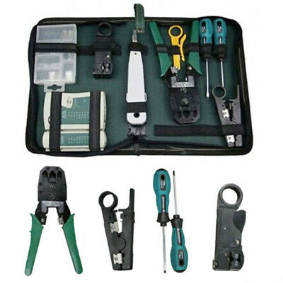 RJ45/RJ12 Ethernet Cable Hand Crimper Network Tester Tools Punch Down Impact Kit