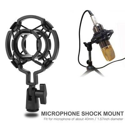 Microphone Shock Mount Bracket Stand Clip MIC Anti Vibration Recording Accs