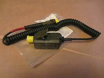 Clansman PTT Pressel switch and cable. GREEN ANR TYPE SPARES OR REPAIR