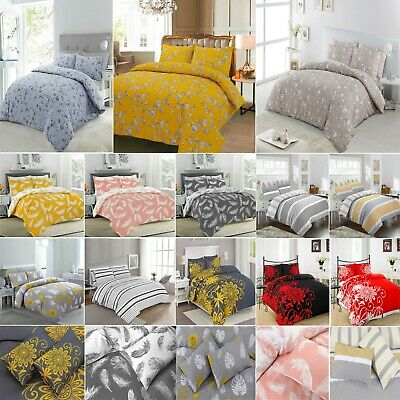 Duvet Cover with Pillow Case Quilt Cover Bedding Set Single Double King All Size