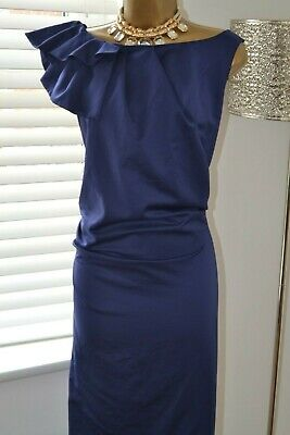 ~ ~ MONSOON ~ ~ Blue Satin Dress Size 20 Suit Mother of the Bride