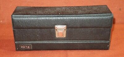 Vintage Decca Audio Cassette Tape Storage Case - free UK postage