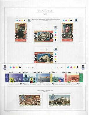 s23865) MALTA 1999 MNH** Complete year 38v + s/s (4 scans) some traffic lights