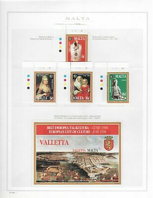 s23864) MALTA 1998 MNH** Complete year 26v + 2 s/s (4 scans) some traffic lights